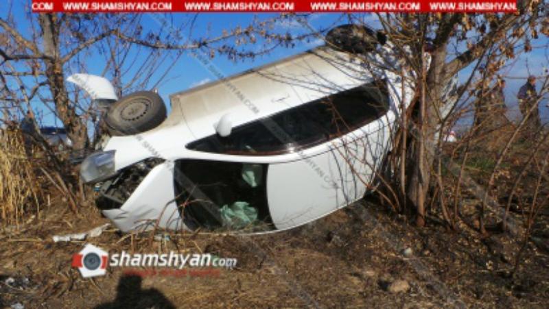 Խոշոր ավտովթար Արմավիրի մարզում․մեքենան բախվել է հաստաբուն ծառին