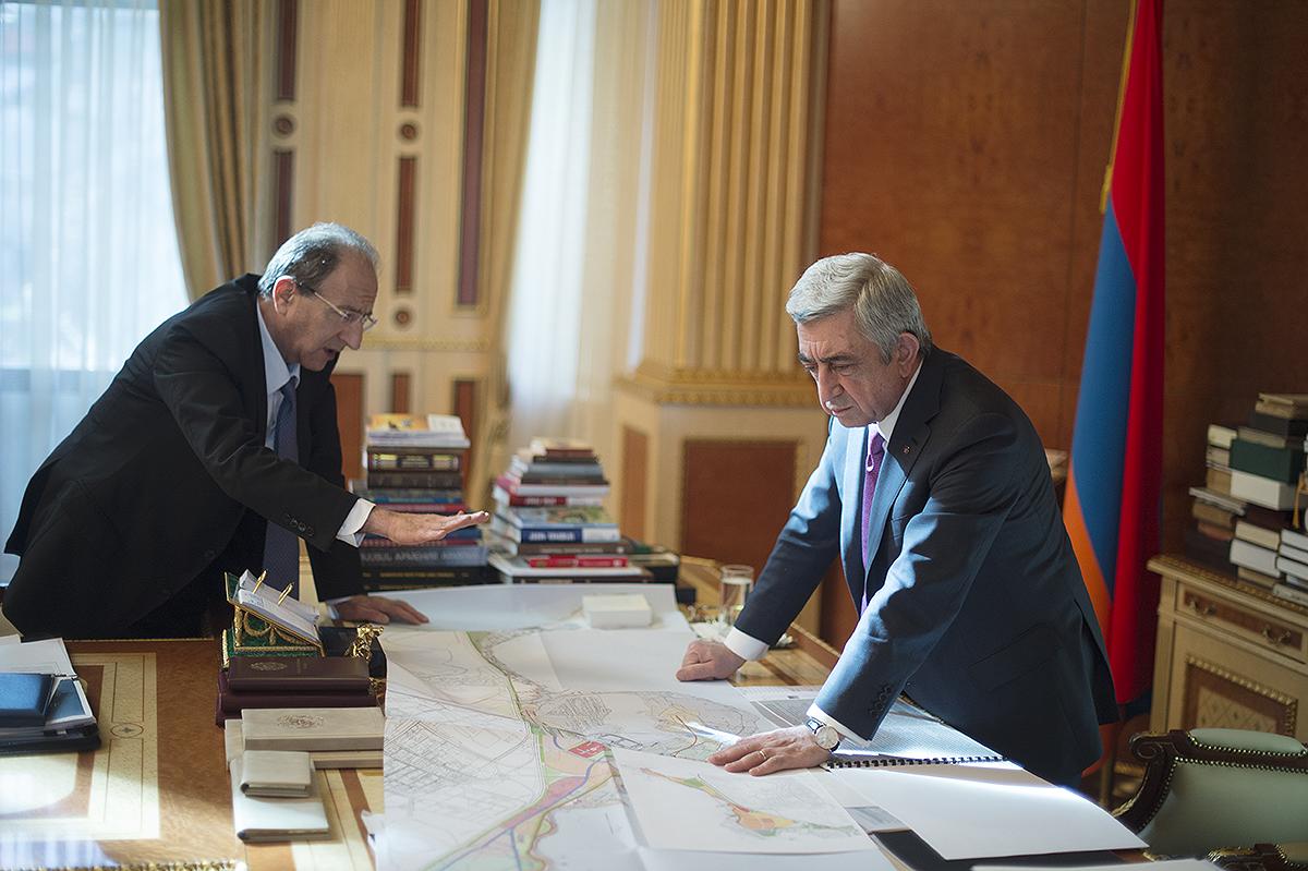 Քաղաքաշինության պետական կոմիտեի նախագահը զեկուցել է Սերժ Սարգսյանին