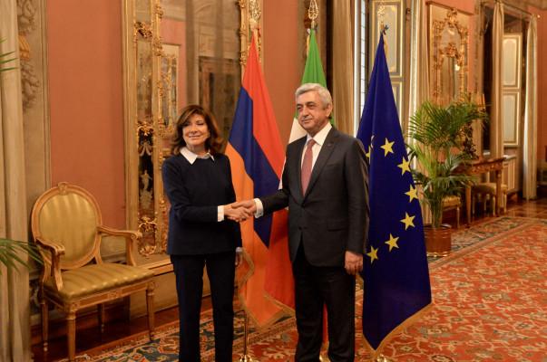 Նախագահ Սերժ Սարգսյանը հանդիպում է ունեցել Իտալիայի Սենատի նախագահի հետ