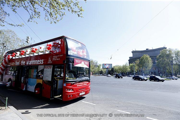 Մայիսի 15-ից կտրվի «Երևան Սիթի Տուր» քաղաքային զբոսաշրջային պաշտոնական երթուղու նոր տարեշրջանի մեկնարկը