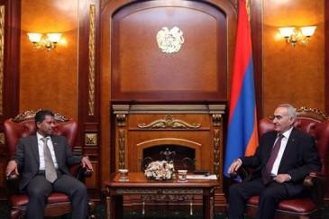 Գալուստ Սահակյանն ու Հայաստանում ԱՄԷ-ի դեսպանը քննարկել են տարածաշրջանային խնդիրները