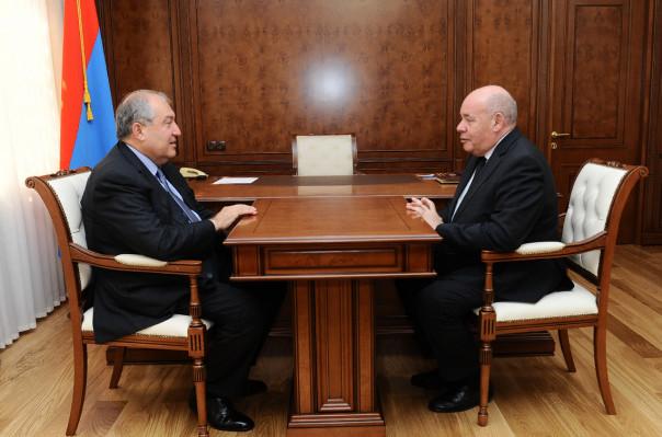 Նախագահն ընդունել է ՌԴ նախագահի միջազգային և մշակութային համագործակցության հարցերով հատուկ ներկայացուցչին