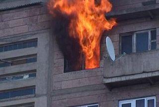 Հրդեհ Մոսկովյան փողոցի բնակարաններից մեկում