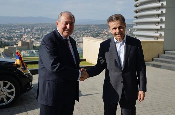 Թբիլիսիում Արմեն Սարգսյանը հանդիպել է Բիձինա Իվանիշվիլիի հետ (լուսանկարներ)
