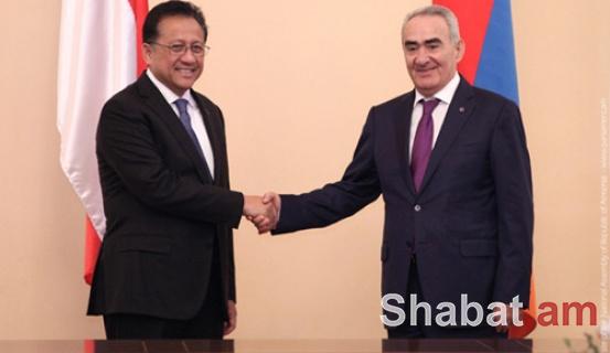 Գալուստ Սահակյանն ընդունել է Ինդոնեզիայի Հանրապետության խորհրդարանական պատվիրակությանը