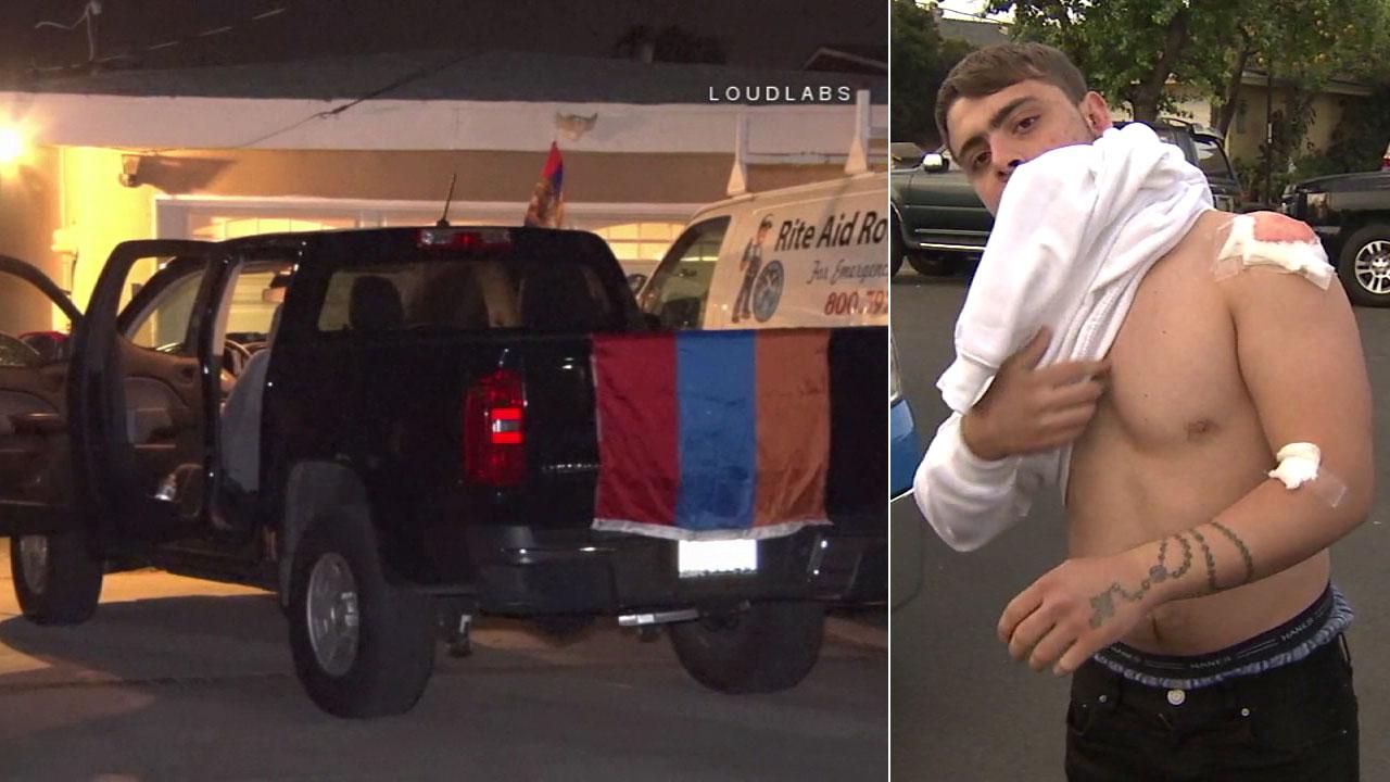 Լոս Անջելեսում  կրակել են հայկական դրոշը ծածանող մեքենայի ուղղությամբ