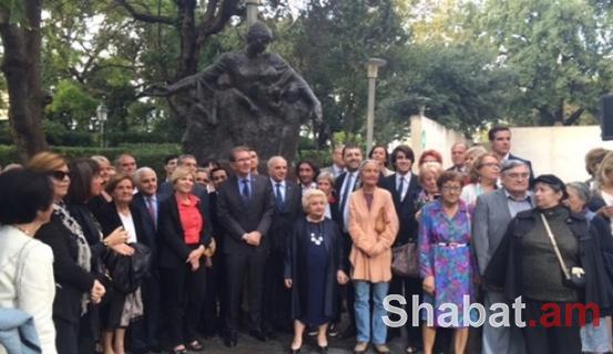 Հայոց ցեղասպանության 100-րդ տարելիցին նվիրված հուշարձանի բացման արարողություն Մարսելում