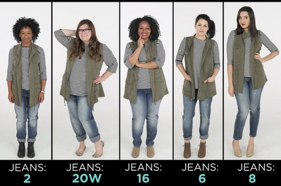 Միևնույն հագուստը՝ մարմնի տարբեր չափեր ունեցող կանանց մեկնաբանմամբ (տեսանյութ)