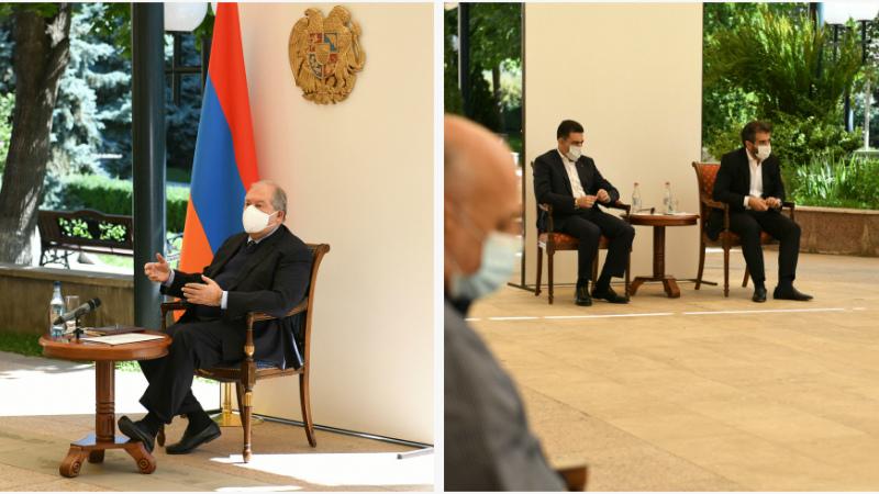 Արմեն Սարգսյանը հանդիպել է մի շարք մշակութային հաստատությունների ղեկավարների հետ