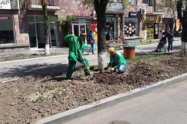 Երևանում ընթանում են կանաչապատման աշխատանքներ