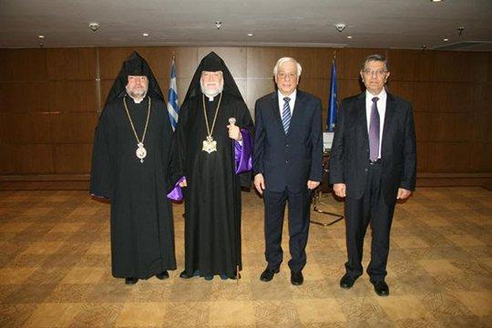 Արամ Ա կաթողիկոսը հանդիպել է Հունաստանի նախագահի հետ