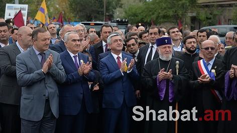 Սերժ Սարգսյանը մասնակցել է Էջմիածնի 2700-ամյակի միջոցառումներին