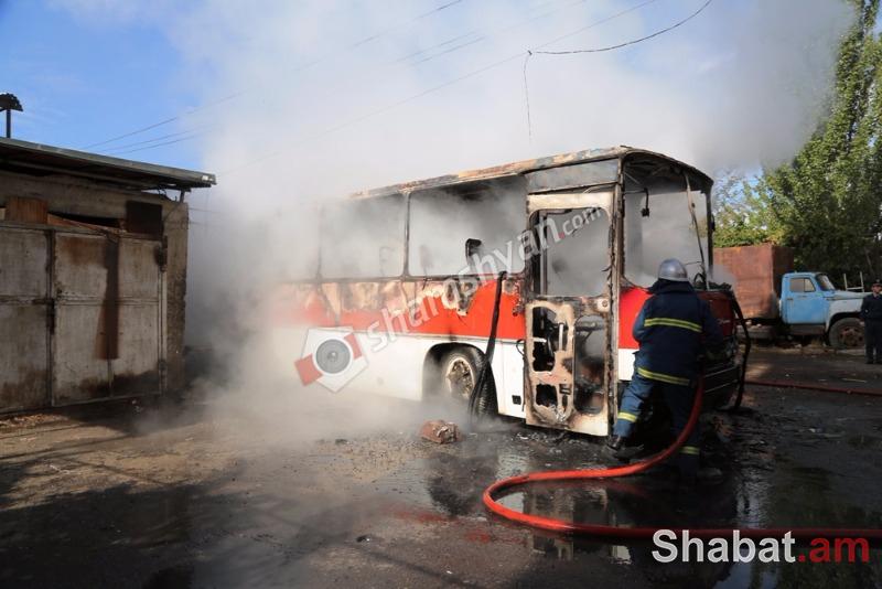 Խոշոր հրդեհ Դավիթաշենում. մարդատար ավտոբուսը վերածվել է մոխրակույտի. հրշեջների օպերատիվ աշխատանքի արդյունքում զոհեր ու վիրավորներ չունենք (լուսանկարներ)