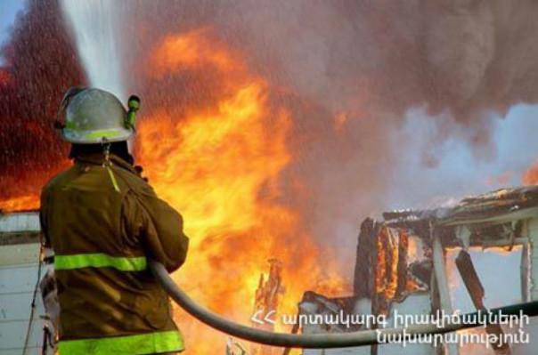 Ձորաղբյուրի ամառանոցների տներից մեկում հրդեհ է բռնկվել