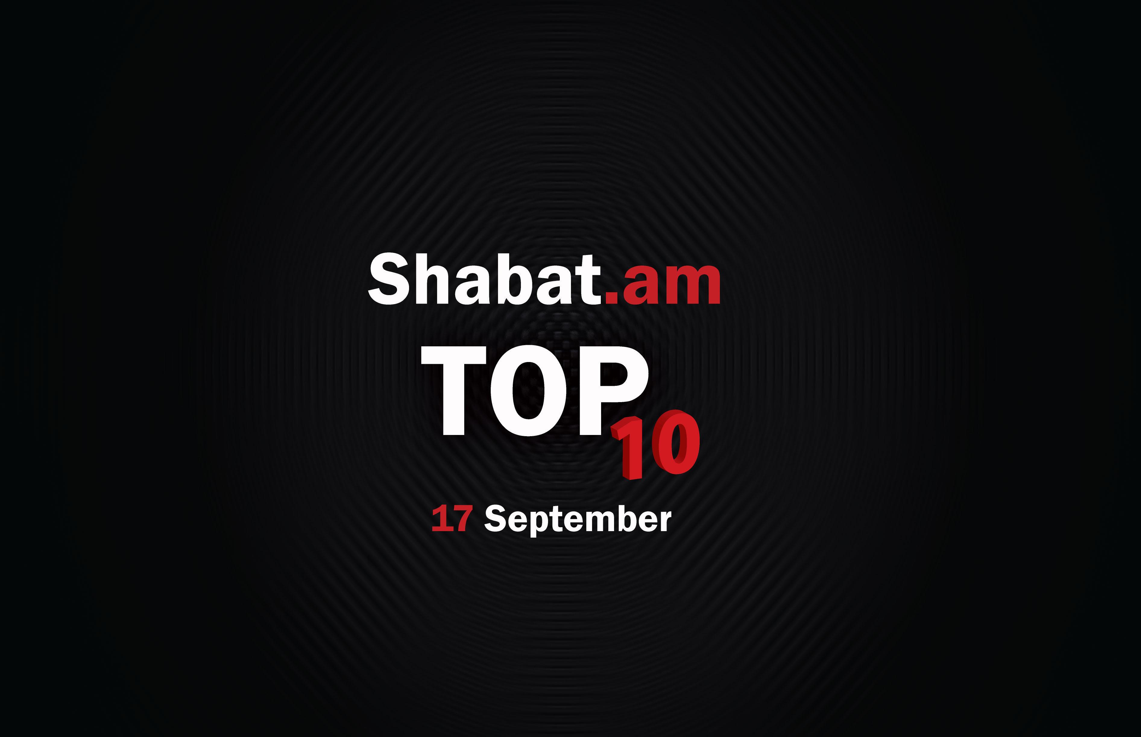 Ամենահզորներից մինչև ամենաընդդիմադիրներ. Shabat.am - ի քաղաքական TOP 10 վերադառնում է