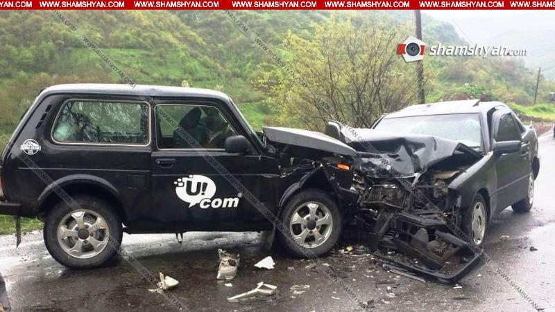 Սյունիքում  Niva-ն դուրս է եկել հանդիպակաց գոտի և բախվել Mercedes-ին. կա 7 վիրավոր