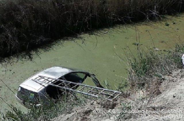 Դիլիջան-Իջևան ճանապարհին մեքենան ընկել է սելավատարը