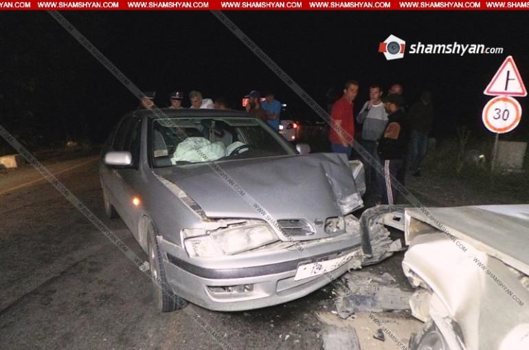 Ավտովթար Արագածոտնի մարզում. ճակատ-ճակատի բախվել են Nissan-ն ու Opel-ը, կա 4 վիրավոր. Shamshyan.com