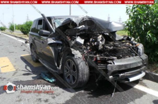 Արմավիրում բախվել են Ford Transit-ը, մարդատար ГАЗель-ը, 06-ն ու Range Rover-ը. վերջինը վերածվել է մետաղե ջարդոնի