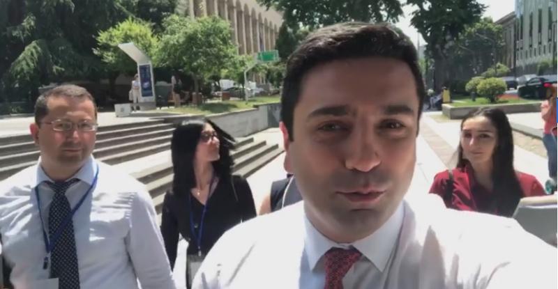 Վրաստանի խորհրդարանում միջադեպից հետո Հայաստանի պատվիրակությունը լքել է նիստերի դահլիճը