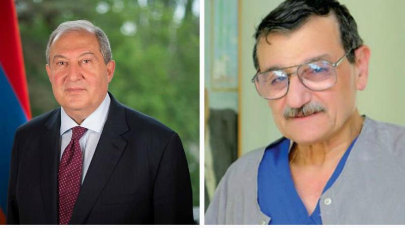 Արմեն Սարգսյանը հեռախոսազրույց է ունեցել Ազգային հերոսի կոչում ստացած վաստակաշատ բժշկի հետ
