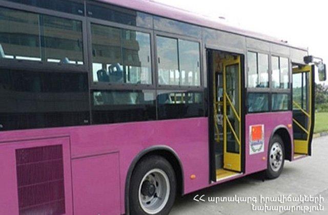Երևանում վթարի են ենթարկվել թիվ 58 և 41 երթուղին սպասարկող ավտոբուսները