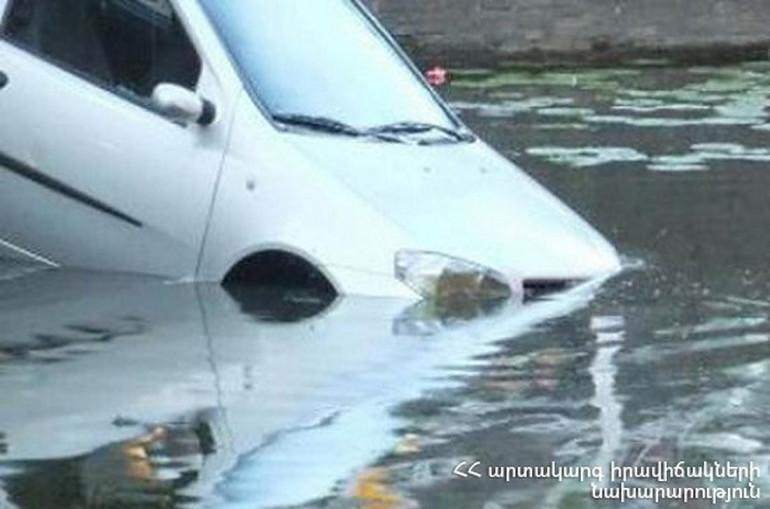 Վեդի-Լանջառ ճանապարհից «Hondain» դուրս է եկել և ընկել ջրատարի մեջ. երկու հոգի հոսպիտալացվել է