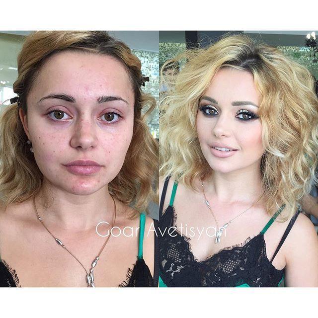 Աղջիկների կախարդական կերպարանափոխումը դիմահարդարումից առաջ և հետո (լուսանկարներ)