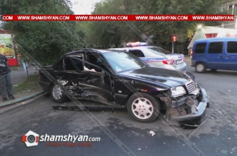 Երևանում բախվել են Mercedes-ն ու Opel-ը. ամուսիններն ու նրանց երեխան տեղափոխվել են հիվանդանոց. Shamshyan.com