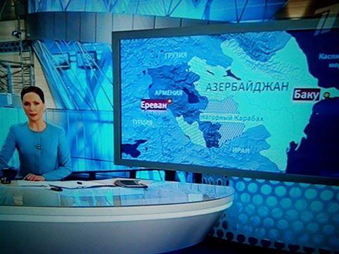 Ռուսական մամուլը սկսել է օգտագործել Արցախի պետական դե ֆակտո սահմանները պատկերող քարտեզը