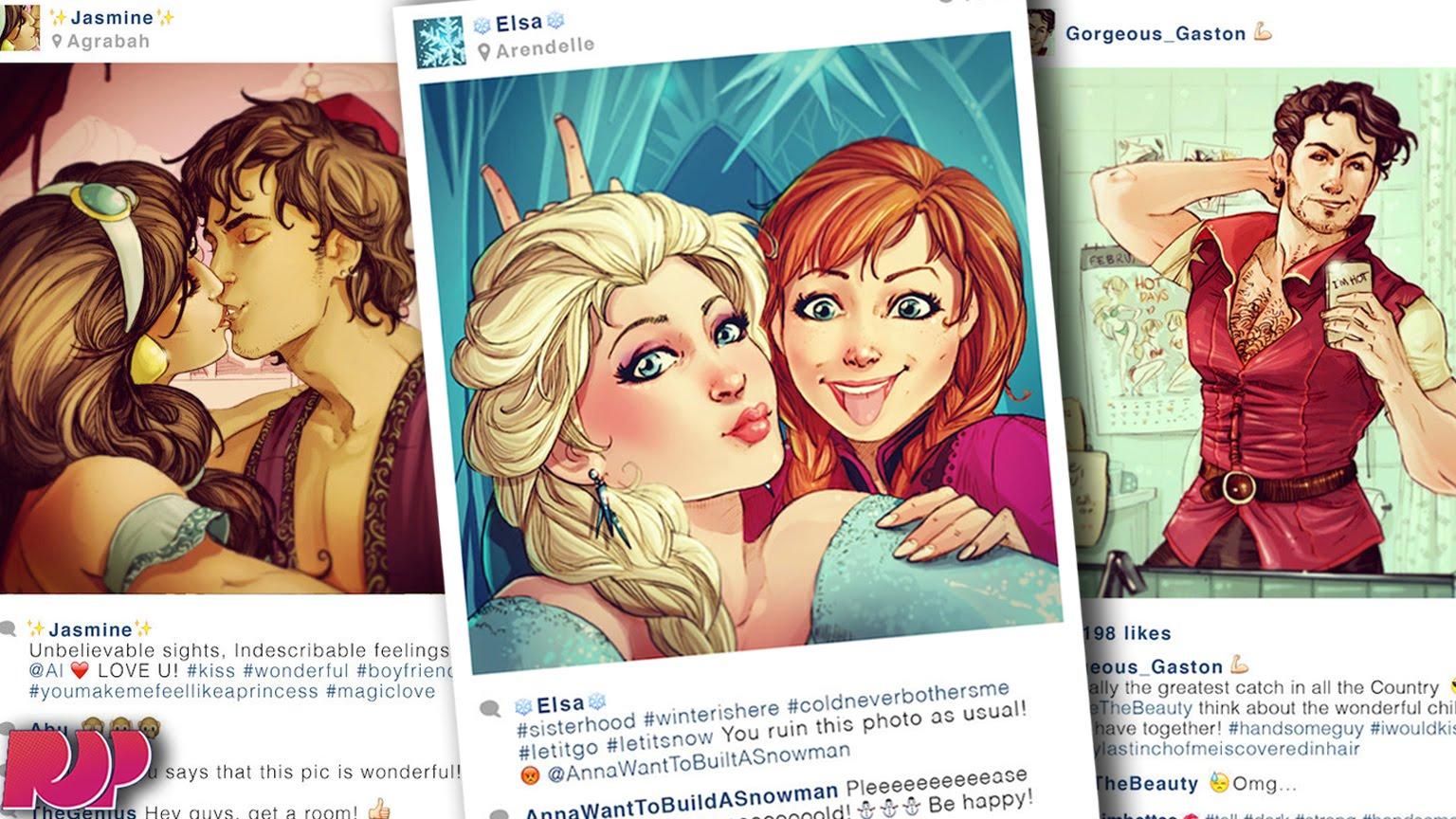 Ինչ կլիներ, եթե Դիսնեյի հերոսներն Instagram ունենային (լուսանկարներ)
