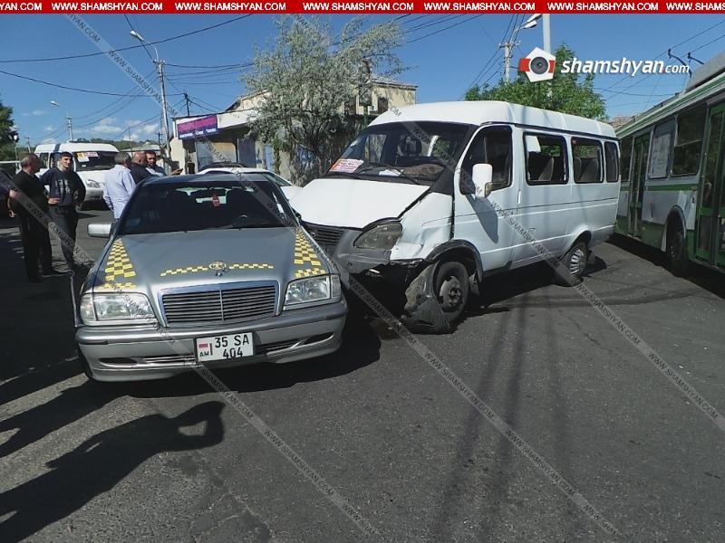 Երևանում  վթարվել է թիվ 58 երթուղին սպասարկող Газель-ը