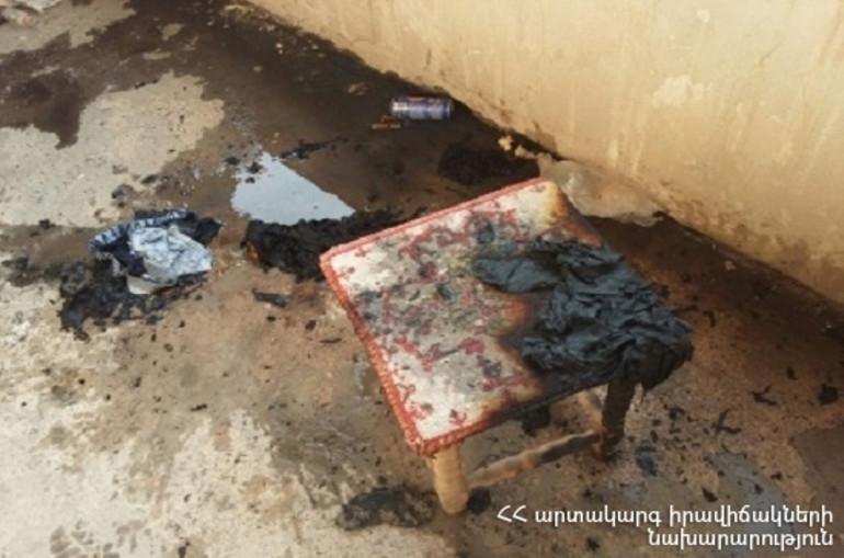Հրդեհ՝ Աբովյանում. փրկարարները բնակարանից դուրս են բերել ալկոհոլի ազդեցության տակ գտնվող քաղաքացուն