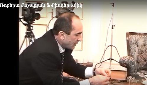 Ռոբերտ Քոչարյանը փորձում է «Քինդեր» ձվիկ հավաքել (տեսանյութ)