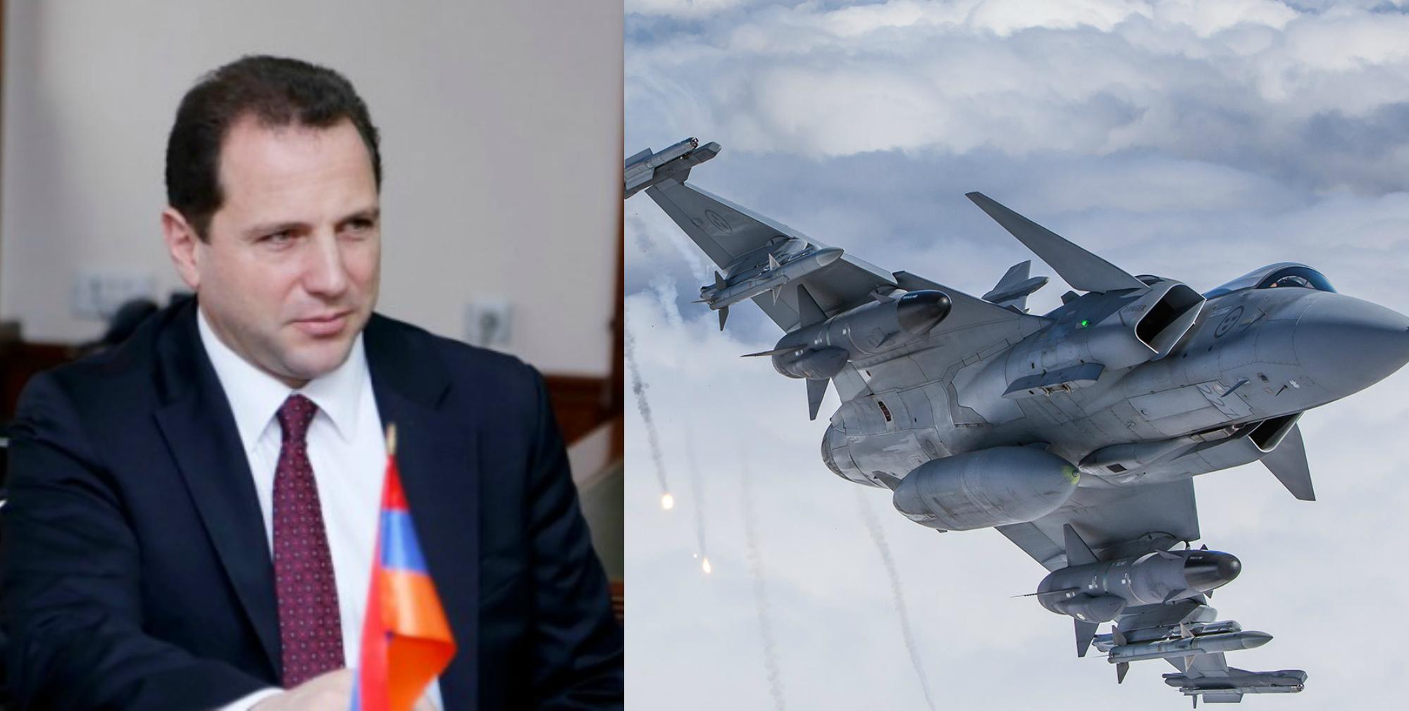 Դավիթ Տոնոյանը՝ ՊՆ-ի կողմից շվեդական Gripen կործանիչներ ձեռք բերելու մասին