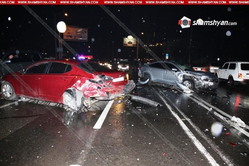 Խոշոր ավտովթար է տեղի ունեցել Երևանում