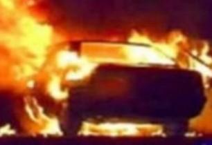 Երևանի Մարգարյան փողոցում ավտոմեքենան ամբողջությամբ այրվել է