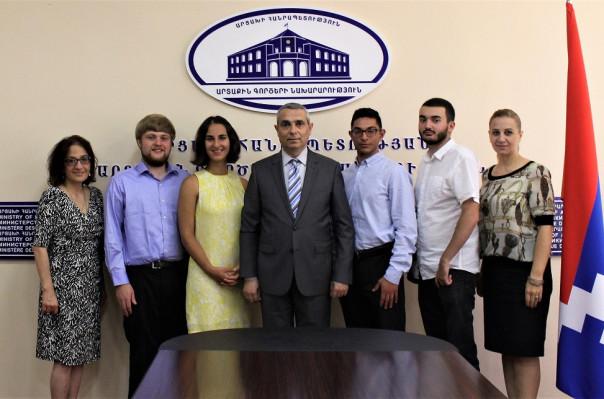 Արցախի ԱԳՆ ղեկավարն ընդունել է Ամերիկայի հայկական համագումարի փորձնակներին