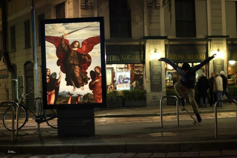 Երբ գովազդային վահանակներին փոխարինում են արվեստի գործերը (լուսանկարներ)