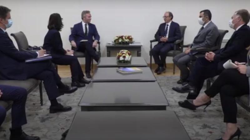 ԱԳ նախարար Արա Այվազյանը հանդիպեց Ֆրանսիայի արտաքին գործերի պետքարտուղար Ժան-Բատիստ Լըմուանի հետ (տեսանյութ)