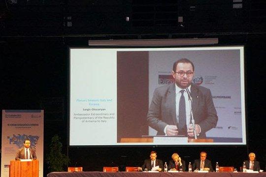 Իտալիայում ՀՀ դեսպանը Վերոնայում ներկայացրել է Հայաստանի տնտեսական ու ներդրումային իրավիճակը