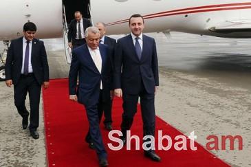 Վրաստանի վարչապետը պաշտոնական այցով ժամանել է Ադրբեջան