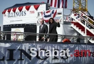 Միշել Օբաման մասնակցել է նոր սուզանավի ծով բաց թողնելու հանդիսավոր արարողությանը