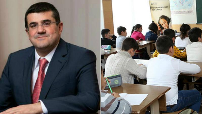 Արցախում դպրոցների մանկավարժները կպարգևատրվեն 20 հազարական դրամով. Արայիկ Հարությունյան