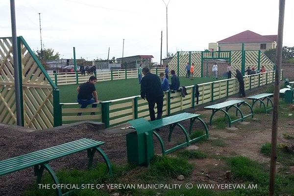 Մինի ֆուտբոլի հերթական խաղադաշտը շահագործման է հանձնվել Նուբարաշենում (լուսանկարներ)