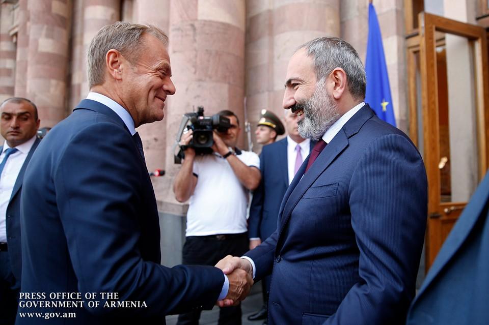 Երեկ շատ արդյունավետ բանակցություններ ունեցանք ԵՄ խորհրդի նախագահ Դոնալդ Տուսկի հետ․ ՀՀ վարչապետ