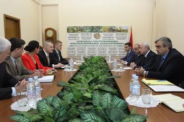 ՀՀ գյուղատնտեսության նախարարն ընդունել է Հայաստանում կենսաբանական ոլորտում ներգրավման համագործակցային ծրագրի ղեկավարին
