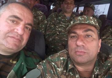 Սամվել Ալեքսանյանը մեկնեց առաջին գիծ (VIDEO.PHOTO)