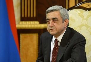Սերժ Սարգսյանի շնորհավորել է ՀԲԸՄ նախագահ Պերճ Սեդրակյանին՝ կառույցի 110-րդ տարեդարձի առթիվ