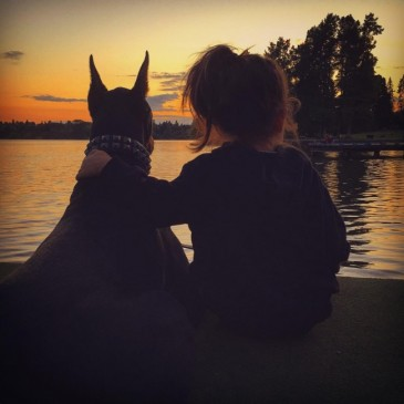 Փոքրիկ աղջկա ու դոբերմանի հավատարիմ ընկերությունը (լուսանկարներ)